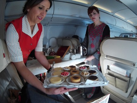 royal jordanian catering desserts a320 europe middle east business class royal crown class cakes sherbets, pralines