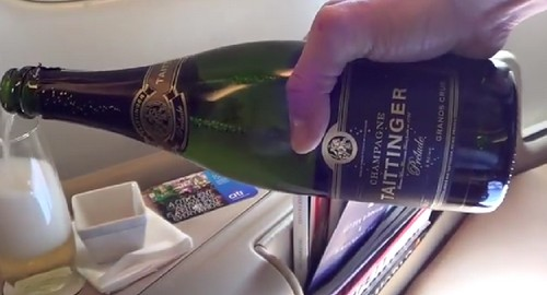 singapore airlines champagne taittinger grand cru business class